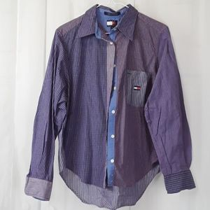 Tommy Hilfiger sz 10 plaid button down dress shirt